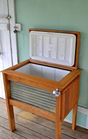 wooden ice chest holder plans