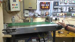 conveyor beltotors controlled by plc s by dhanaraju sir