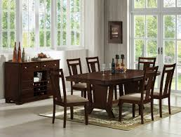 old dark wood dining table large mango 6 chairs gl room and
