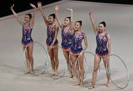 msia s gymnasts celebrate the gold medal in team rhythmic gymnastics at kuala lumpur 2017 sea games