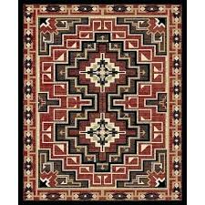 large log cabin rugs braided rustic lodge style outdoor