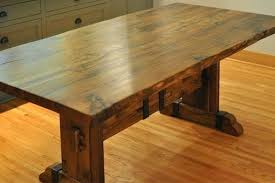 custom made solid reclaimed white oak dining table with iron accents and set round extending