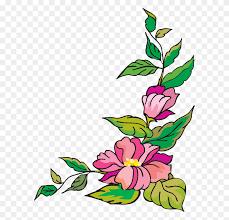 flower corner cliparts corner design