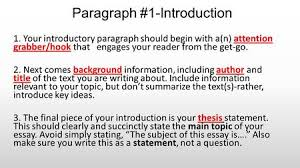 paragraph essay ppt video online writing a five paragraph essay paragraph 1 introduction