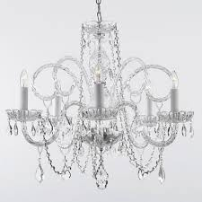 empress 5 light crystal plug in chandelier