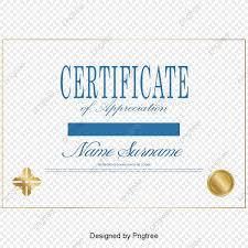 School Certificate Design Psd Simple Certificate Certificates Design Vector Material