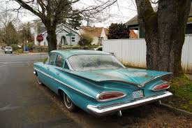 OLD PARKED CARS.: Sunday Bonus: 1959 Chevy Bel Air, revisited.