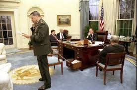 obamas oval office. obama is known to have mixed things up a bit here he pictured sitting on his desk with red curtains behind him this isnu0027t the only style choice obamas oval office