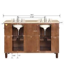55 silkroad cambridge double sink cabinet bathroom vanity hyp 0222 t uwc 55