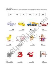 Read the words in the cubes. Digraphs Sh Th Ck Ng Ph Ch Esl Worksheet By Poli02
