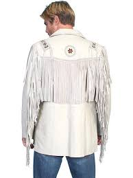 scully men s leather jacket fringe lamb on front jacket cream big and long sizes