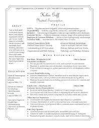 Sample Medical Transcription Cover Letter Cover Letter Medical Cover