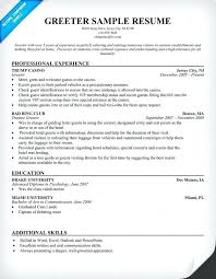 Cool Sample Greeter Resume With Factory Work Resume Greeter Resume