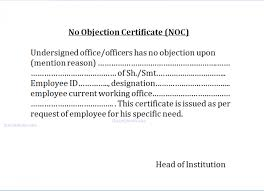 no objection certificate for employee no objection certificate for employee dtk templates