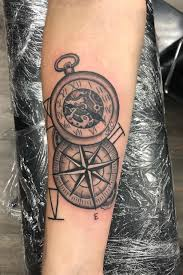 Tattoo Uploaded By Tattoosbypickles Compass Pocketwatch