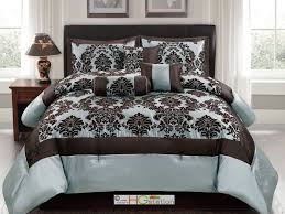 Blue And Brown Comforter Sets