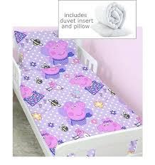 peppa pig toddler bed pig 4 piece toddler bedding bundle happy peppa pig cot bed duvet