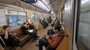 people inside subway train. Wonderful Subway KIEV UKRAINE  FEBRUARY 2018 People Inside Metro Train Wagon At Subway  Station Stock Video Footage Videoblocks In Inside Subway Train U