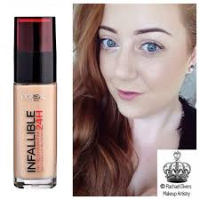 i recently purchased and reviewed the l oreal infallible 24h matte foundation and after my mum l oreal infallible makeup extender setting spray