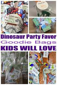 dinosaur party favor goo bags