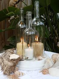 PINTEREST - WEDDING - DECOR USING WINE BOTTLES | Wedding centerpiece White  Triple Wine Bottle Candle