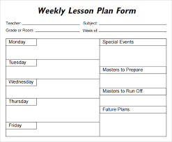 lesson plan template word doc weekly lesson plan template word document oyle kalakaari co