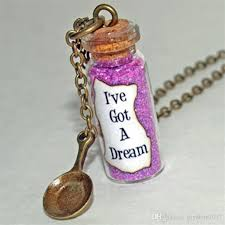 whole tangled rapunzel i ve got a dream l glass bottle necklace with a frying pan charm inspired necklace ruby pendant necklace star pendant necklace