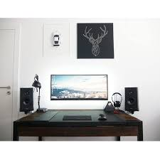 home office computer. my highly minimalistyc home office with custom reclaimed wood desk pc try computer e