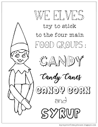Elf On The Shelf Coloring Page Coloring Pages Coloring Pages