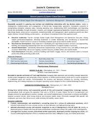 Cover Letter Logistics Manager Resume Sample Supply Chain Profile