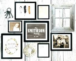 gallery wall kit picture frame collage kit asymmetrical vintage rustic gallery wall kit large size of