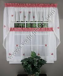 erfly gingham kitchen curtains maize lorraine jabot swag kitchen curtains