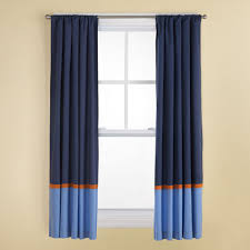 Navy And White Curtains Kids Curtains Kids Navy And Light Blue Curtains With Orange Trim