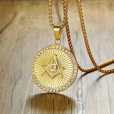 new iced out gold freemason masonic compass g round pendant free mason freemasonry hip hop