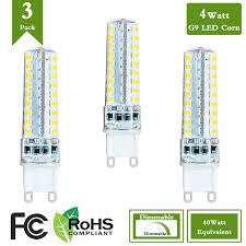 40 Watt Halogen G9 Light Bulb Pack Of 3 Dimmable G9 Led Light Bulb 4 Watt Equivalent 40