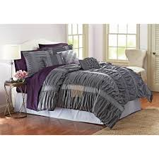 better homes and gardens 7 piece embroidered ruching full bedding comforter set com