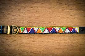 masai beaded leather dog collars 001