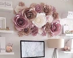 Paper Flower Decor Paper Flower Wall Etsy