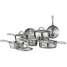 tri ply cookware. Simple Cookware Tramontina 12Piece Gourmet TriPly Base Cookware Set Stainless Steel To Tri Ply P