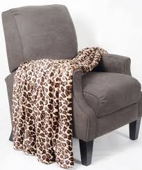 animal print double sided faux fur throw