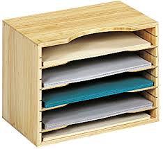 wooden file organizer image