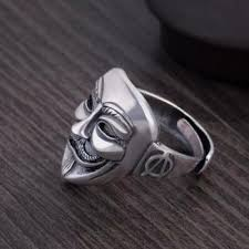 european ghost ring mans index finger v word vendetta