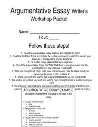 argumentative essay writer s workshop packet pages tpt argumentative essay writer s workshop packet 10 pages