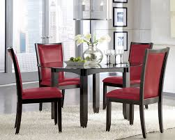 red dining chairs table set upholstered within room plan 3