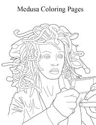 Small Picture Medusa Looking in the Mirror Coloring Page NetArt