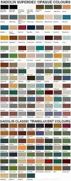 Superdec Colour Chart Sadolin Superdec And Classic Colour Chart Sadolins Superdec