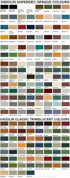 Sadolin Classic Colour Chart 64 Precise Solignum Architectural Colour Chart