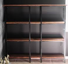 ikea industrial furniture. Ikea Curio Cabinet Light Luxury Hack Rustic Industrial Bookcase Furniture I