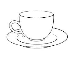 Cup Coloring Page Tea Cup Coloring Page Tea Cup Coloring Pages Drawn