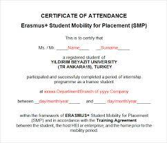 Attendance Award Template 23 Sample Attendance Certificate Templates In Illustrator